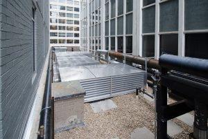 Rooftop generator installation location