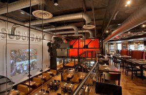 Not Your Average Joes dining area viewed from upper level