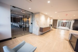 Health Management Associates common area with view of conference room