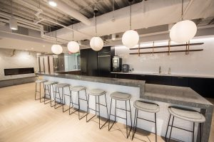 Health Management Associates coffee counter with seating