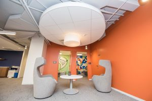 JPA Health Communications lobby seating
