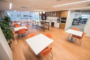 JPA Health Communications employee kitchen