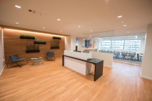 JPA Health Communications lobby/receptionist area