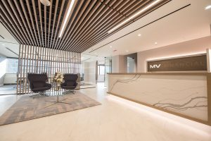 MV Financial lobby/receptionist desk