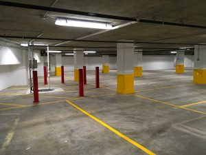Verizon Baltimore Parking Garage interior