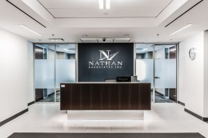 Nathan Associates lobby desk